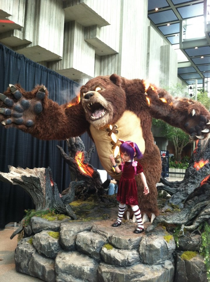 """Have you seen my bear, Tibbers?"""