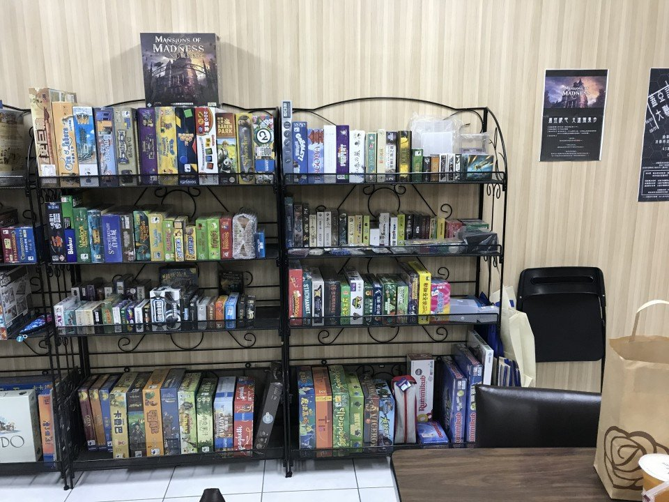 Games ready to be purchased, neatly organized